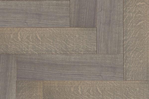 Массивная доска елочкой Дуб GREY селект 100 мм
