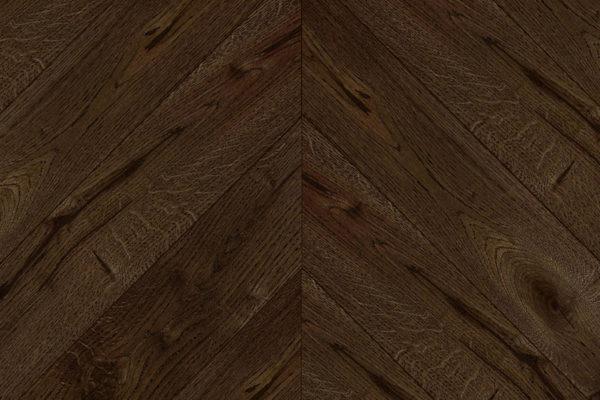 Массивная доска елочка Дуб FUME селект 100 мм