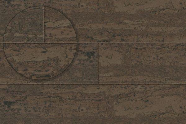Клеевой пробковый пол Comprido Brown