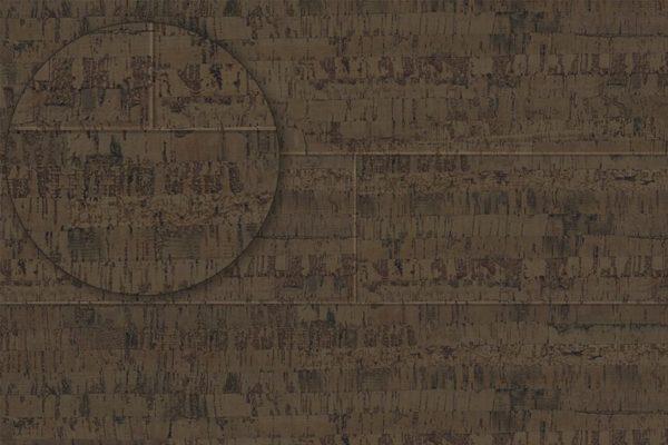 Замковый пробковый пол Linea Brown