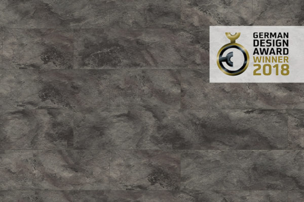 Сланец черный - ламинат EGGER на основе влагостойкой ДВП плиты UWF высокой плотности с двойным защитным покрытием