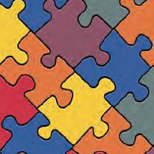 Линолеум Bingo Puzzle Colour-050 (IVC)